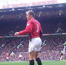 manchester united edit neville in action at old trafford in march 2004