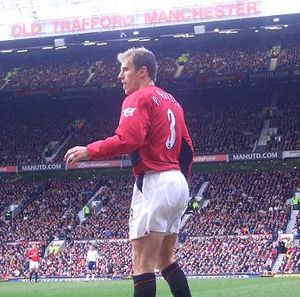 Phil Neville - Neville in action at Old Trafford in March 2004