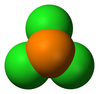 Phosphorus trichloride - Image: Phosphorus trichloride 3D vd W