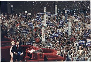 1988 Republican National Convention - Ronald and Nancy Reagan address the 1988 Republican National Convention in the Superdome