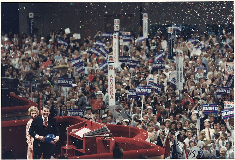 Photograph of The Reagans at the Republican National Convention, New Orleans, LA - NARA - 198594.jpg