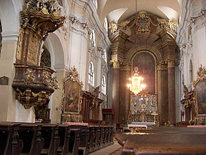 Cluj-Napoca Piarists' Church - The church's interior.