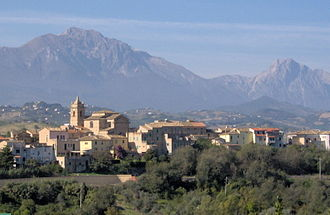 Picciano - View from the east
