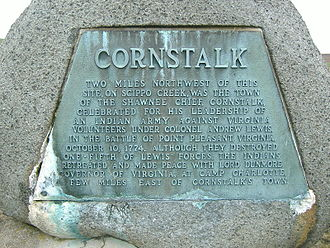 Cornstalk - Cornstalk monument located at Logan Elm State Memorial in Pickaway County, Ohio.