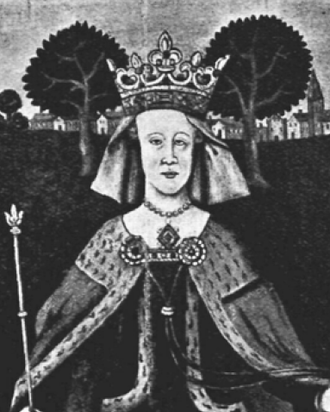 Eadgifu of Kent - Ancient picture of Queen Eadgifu from Canterbury Cathedral.