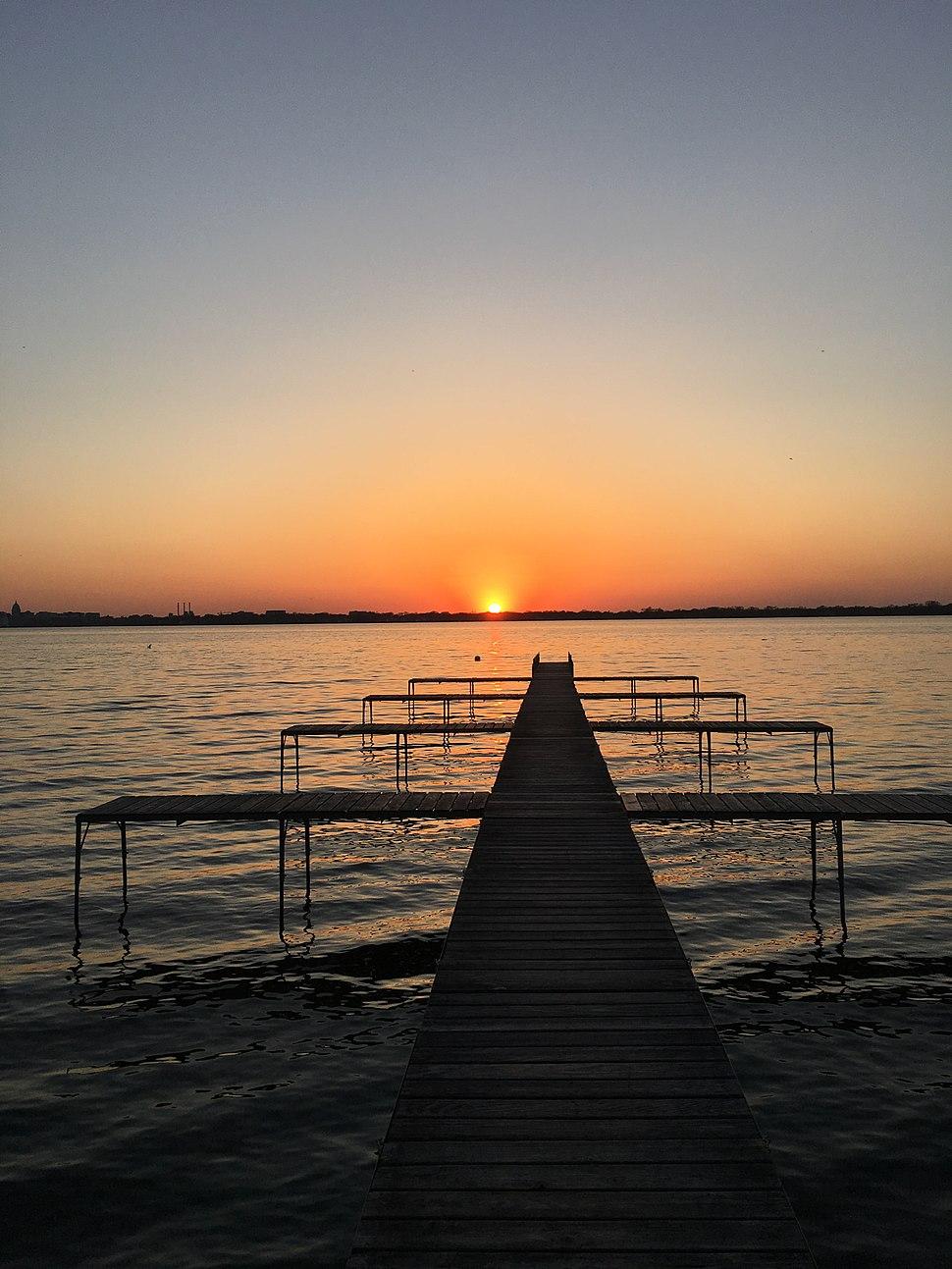 Pier in Monona, Wisconsin