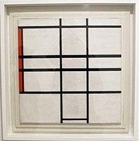 Piet mondrian, composizione con bianco e rosso, 1936.JPG