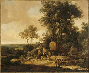 Landscape with Peasants on the Road