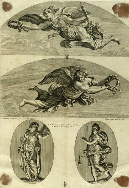 File:Pietro Aquila, Winged Victories after Annibale Carracci.png