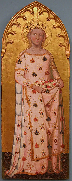 Miracle of the roses - Elisabeth of Hungary with roses