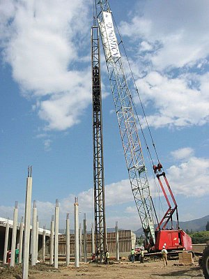 Deep foundation - A deep foundation installation for a bridge in Napa, California, United States.