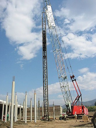 Geotechnical engineering - Pile-driving for a bridge in Napa, California.
