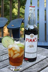 A modern bottle of Pimm's No. 1 Cup