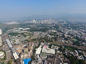 Yuen Long Plain - Aerial view of Yuen Long Plain (2016)