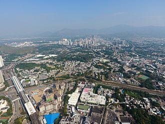 Yuen Long Plain - Aerial view of Yuen Long Plain (2016)