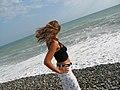 Pitsunda, Abkhazia, Beach of Black Sea.jpg