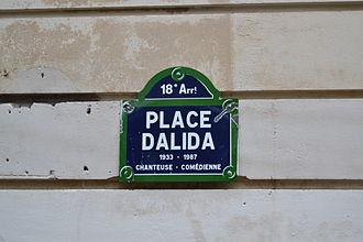 Place Dalida - Image: Place Dalida 1