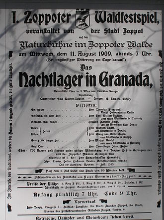 Forest Opera - Poster of the First (1909) Zoppot Waldfestspiele