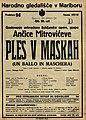 Plakat za predstavo Ples v maskah v Narodnem gledališču v Maribor 26. januarja 1928.jpg