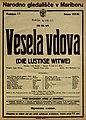 Plakat za predstavo Vesela vdova v Narodnem gledališču v Mariboru 6. decembra 1925.jpg