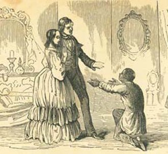 Anti-Tom literature - Image from The Planter's Northern Bride (1854) by Caroline Lee Hentz, one of the most famous examples of Anti-Tom literature.