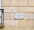 Plaque, 12 Rue Odéon, Paris May 2014.jpg