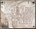 Plaque à Jean Bianchero dit Lorient au 232 rue Garibaldi à Lyon.jpg