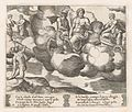 Plate 18- Venus in her dove-drawn chariot complaining to Jupiter, who is accompanied by Mercury and an eagle, at left Mercury has descended to earth, from the Story of Cupid and Psyche as told by Apuleius MET DP862824.jpg