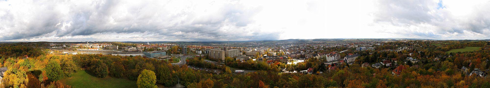 Панорама города Плауэн