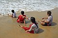 Playful Family with Sea Waves - New Digha Beach - East Midnapore 2015-05-03 9786.JPG