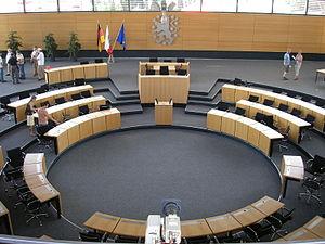 Plenarsaal des Thüringer Landtags in Erfurt.