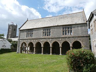Hele's School - Old Grammar School, Plympton, founded 1658, built 1664, attended by Joshua Reynolds whose father was headmaster