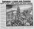 Pod Pręgierz, 1937 r. Szarańcza w bramach grodu Przemysława.jpg