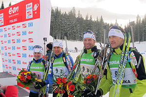 Jakov Fak -  Fak in 2010, Slovenian mixed team.