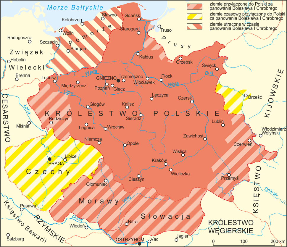 Poland 992-1025 map PL