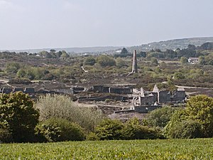 Mining in Cornwall and Devon - Ruins of Poldice Mine in Gwennap