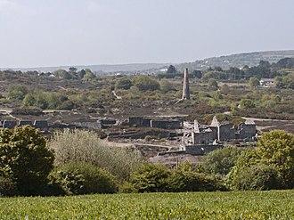 Mining in Cornwall and Devon - Ruins of Poldice Mine in Gwennap
