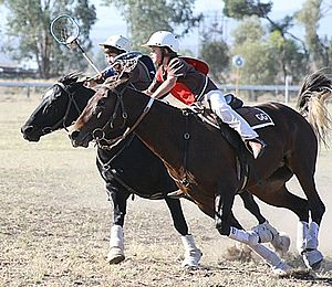 Polocrosse - Juniors playing polocrosse in NSW, Australia