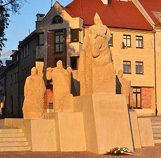 monument in Płock, Poland