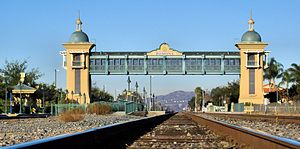 Riverside Line - View from the tracks at the Pomona station