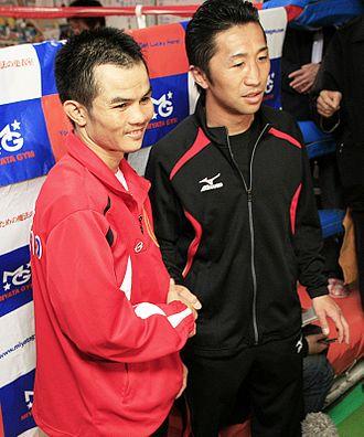 Pongsaklek Wonjongkam - Wonjongkam (left) and Daisuke Naito in March 2010