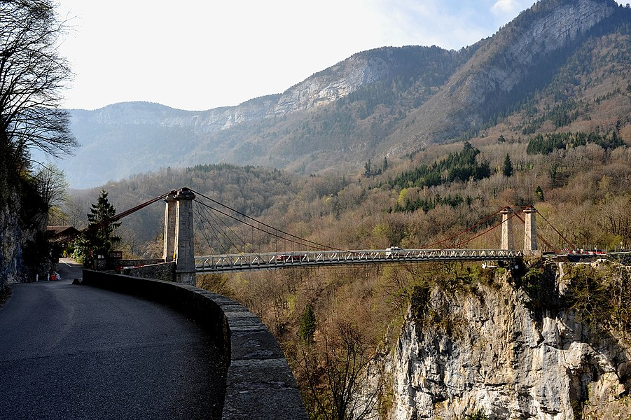 Abime bridge crossing river Chéran near Cusy; Haute-Savoie, France.