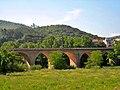 Pont del tren a la sortida de Sant Celoni direcció Barcelona - panoramio.jpg