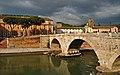 Ponte Cestio and Basilica di San Bartolomeo all'Isola. Roma, Italy.jpg