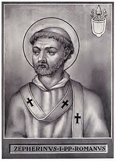 Pope Zephyrinus pope