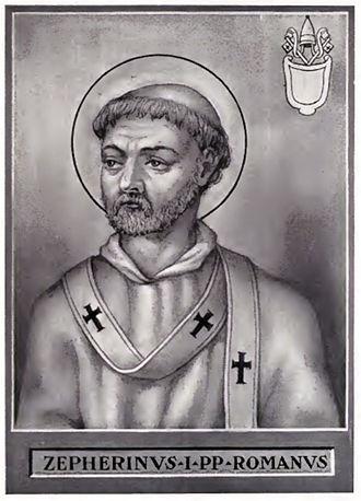 Pope Zephyrinus - Image: Pope Zephyrinus
