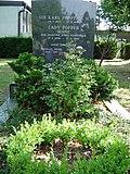 Gravesite of Sir Karl Popper in Lainzer Friedhof, Vienna, Austria.