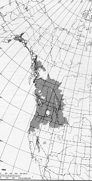 Populus trichocarpa - Image: Populus Trichocarpa Range