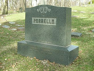 Cleveland crime family - The grave marker for Joseph and Vincenzo Porrello at Calvary Cemetery (Cleveland, Ohio).