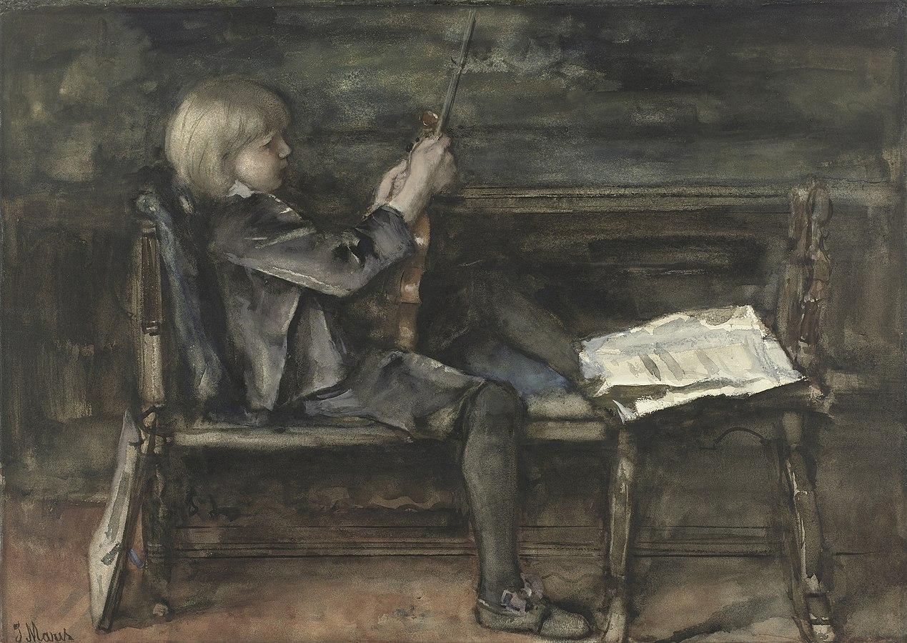 Portrait de Willem Matthijs Maris, avec un violon